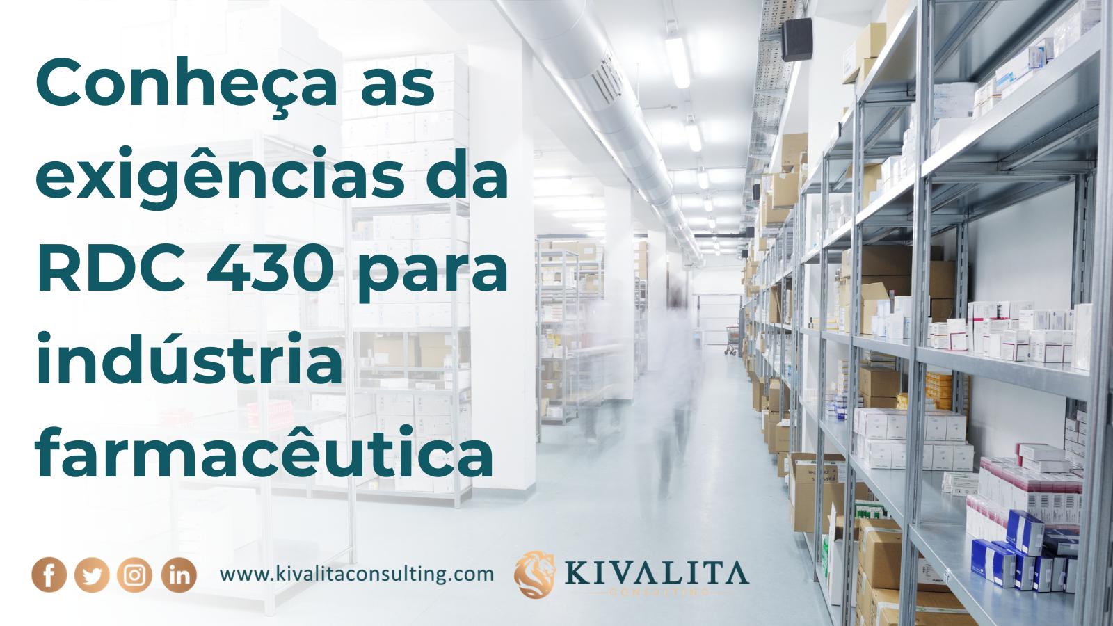 Conheça as exigências da RDC 430 para indústria farmacêutica