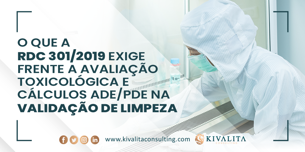 What RDC 301/2019 requires facing the toxicological  evaluation and ADE/PDE  in  cleaning validation